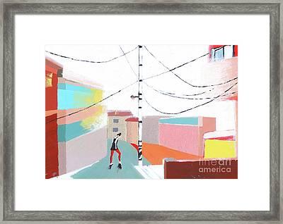 Dancing In The Street Framed Print by Dana FC
