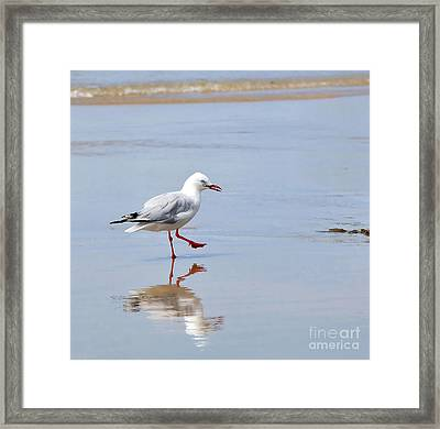 Dancing In Time With My Reflection Framed Print