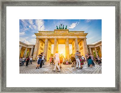 Dancing Into The Sunset Framed Print