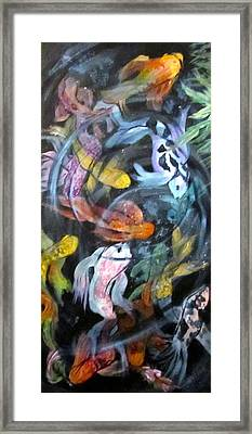 Dancing Koi Framed Print