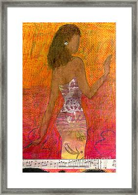Dancing Lady Framed Print by Angela L Walker