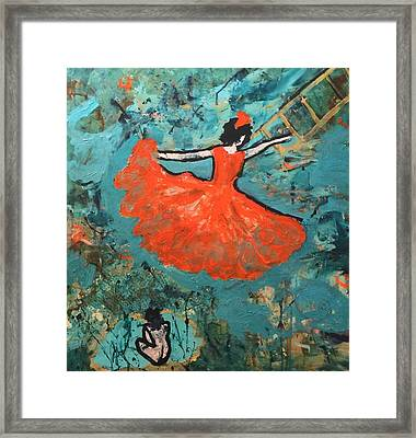 Framed Print featuring the painting Dancing Lady by Annette McElhiney