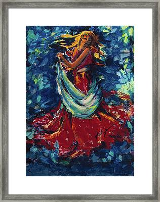 Dancing Lady In Red Framed Print