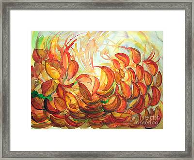 Dancing Leaves Framed Print by Vanda Sucheston Hughes
