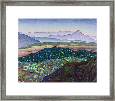 Dancing Light Of Northern New Mexico Framed Print