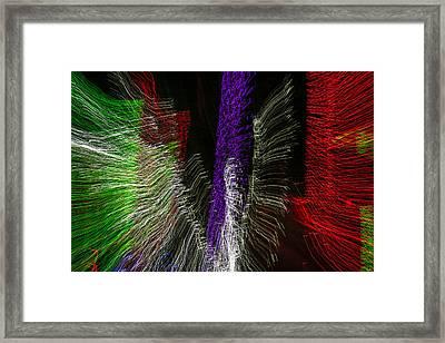 Dancing Lights 4 Framed Print by Penny Lisowski