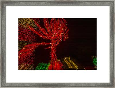 Dancing Lights 6 - Palm Tree Framed Print by Penny Lisowski