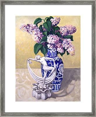 Dancing Lilacs Framed Print