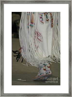 Framed Print featuring the photograph Dancing Moccasins by Kate Purdy