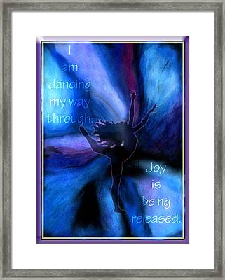 Dancing My Way Through Framed Print by Cassandra Donnelly