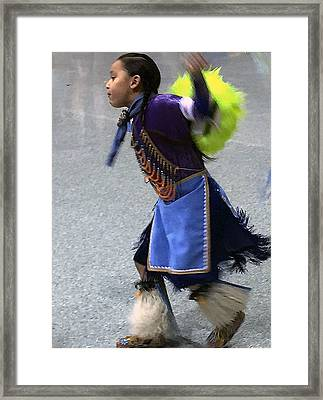 Dancing Native Child Framed Print