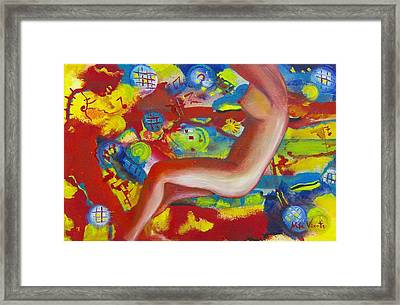 Dancing Framed Print by Nela Vicente