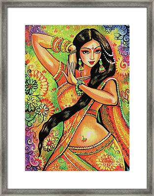 Dancing Nithya Framed Print by Eva Campbell