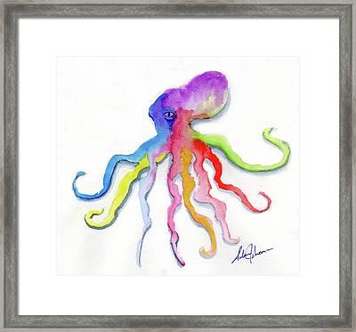 Dancing Octopus Framed Print