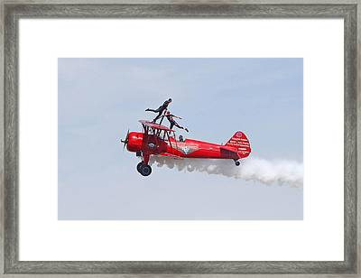Dancing On The Wings Framed Print