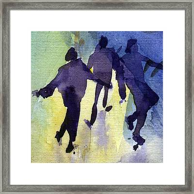 Dancing People Framed Print by Natalia Eremeyeva Duarte