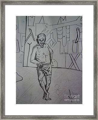 dancing Picasso sketch Framed Print by Viktor Lazarev