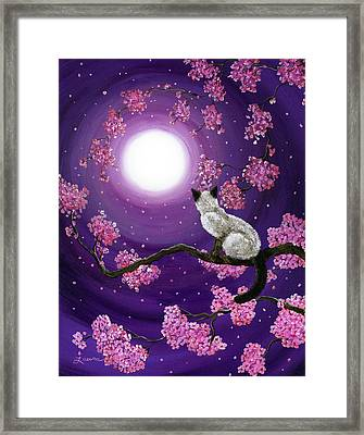 Dancing Pink Petals Framed Print by Laura Iverson