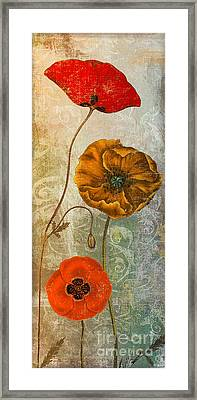 Dancing Poppies II Framed Print by Mindy Sommers