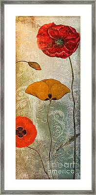Dancing Poppies IIi Framed Print