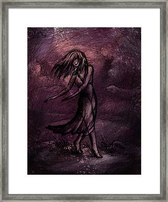 Dancing Framed Print by Rachel Christine Nowicki