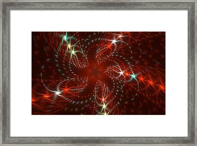 Dancing Red Flower Star In Motion Framed Print