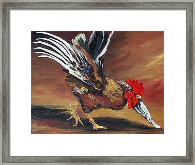 Dancing Rooster  Framed Print by Torrie Smiley