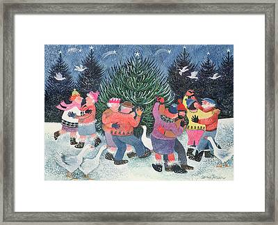 Dancing Round The Tree Framed Print by Lisa Graa Jensen