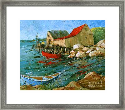 Dancing Sea Framed Print