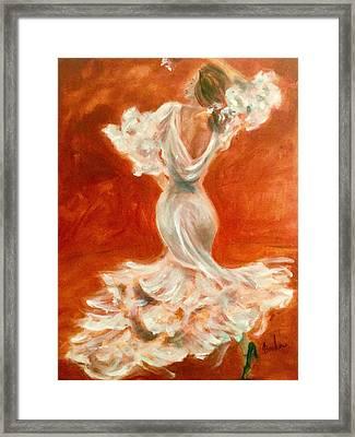 Dancing Senorita Framed Print