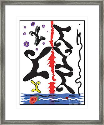 Dancing Shapes Framed Print by Christine Perry