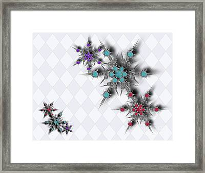 Dancing Snowflakes Framed Print