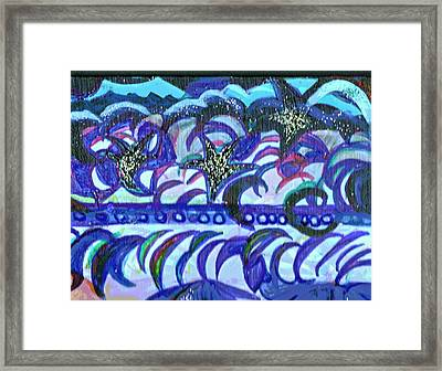 Dancing Stars And Blue Moons Framed Print by Anne-Elizabeth Whiteway