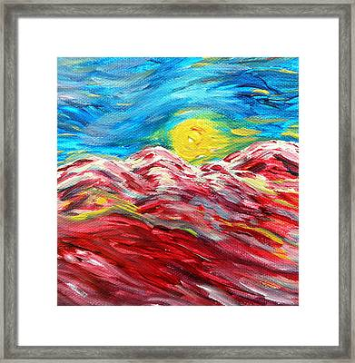 Dancing Sun Framed Print by Amy Drago