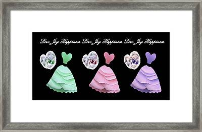 Dancing The Love Dance - Love Joy Happiness - No. 2 Framed Print by Jacqueline Migell