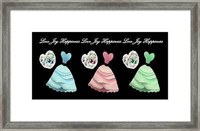 Dancing The Love Dance - Love Joy Happiness No. 3 Framed Print by Jacqueline Migell