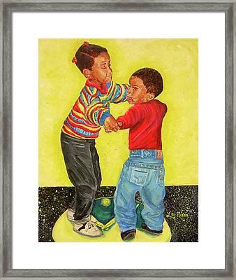 Dancing The Night Away Framed Print by Lee Nixon