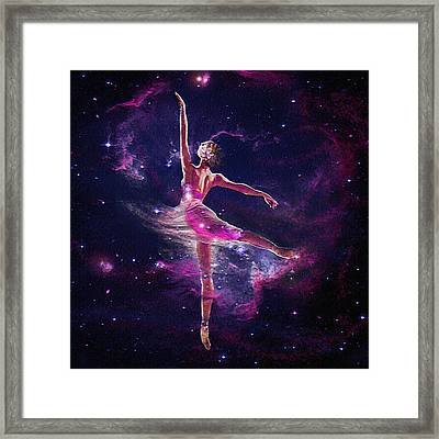 Framed Print featuring the digital art Dancing The Universe Into Being 2 by Jane Schnetlage