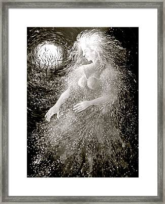 Dancing Through The Darkness Framed Print