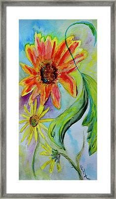Dancing Through The Garden Framed Print by Beverley Harper Tinsley