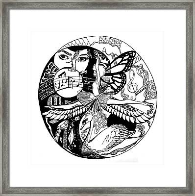 Dancing To Human Nature Framed Print by Kenal Louis