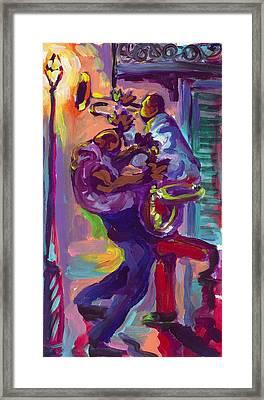 Dancing To The Music Framed Print by Saundra Bolen Samuel
