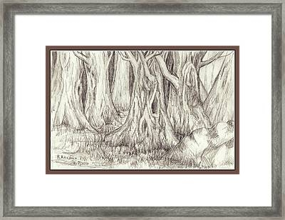 Dancing Trees Framed Print by Ruth Renshaw