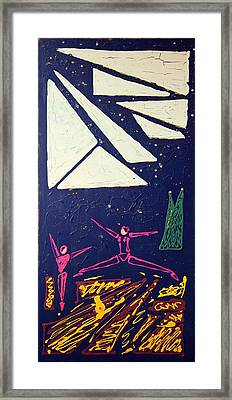 Dancing Under The Starry Skies Framed Print by J R Seymour