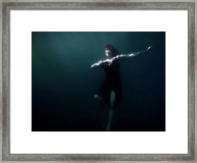 Dancing Under The Water Framed Print by Nicklas Gustafsson