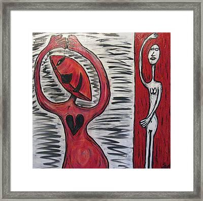 Dancing Until My Heart Breaks Framed Print by Mario Perron