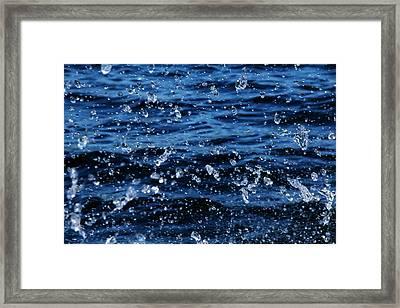 Dancing Water Framed Print by Debbie Oppermann