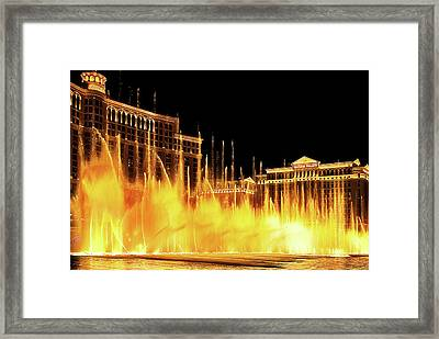 Dancing Water Framed Print