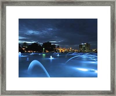 Dancing Waters Framed Print