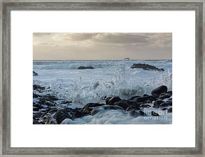 Dancing Waves Framed Print by Masako Metz